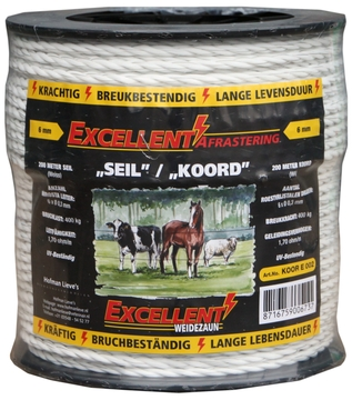 Here you will find our range of electric fence cord. Available in various types, strengths, colors, lengths, ...