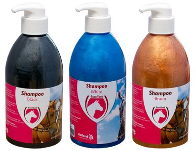 Gebruik een goede shampoo, conditioner en ontklitter om mooie, volle en glanzende manen en vacht te bekomen