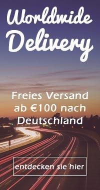 Freies Versand ab €100 nach Deutschland