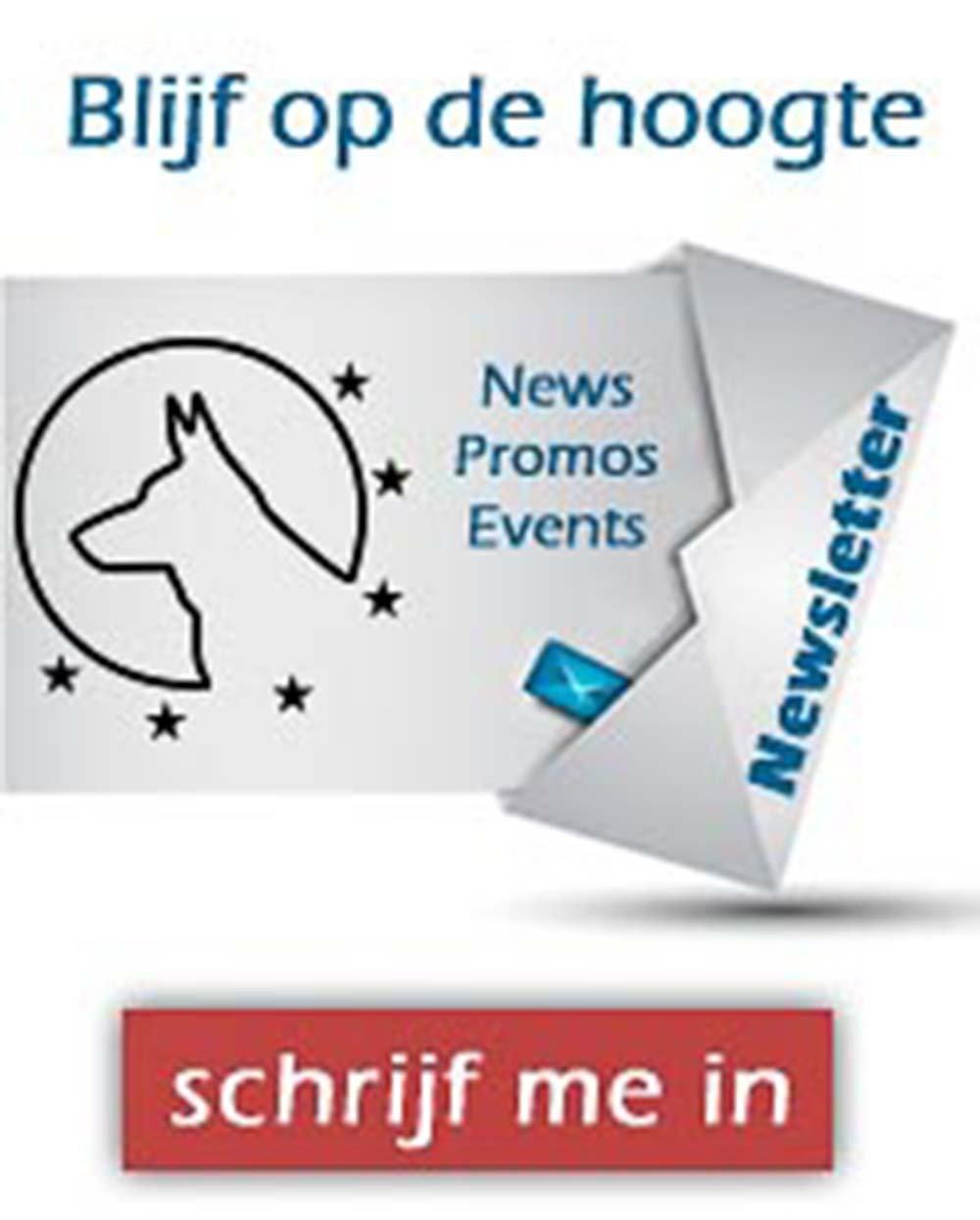 Inschrijven nieuwsbrief - Euro Joe - Paarden - Kledij - Honden - Hondensport - Huisdieren