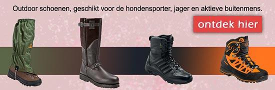 outdoor schoenen geschikt voor de hondensporter, jager en aktieve buitenmens