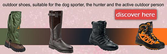 outdoor shoes, suitable for the dog sporter, the hunter and the active outdoor person