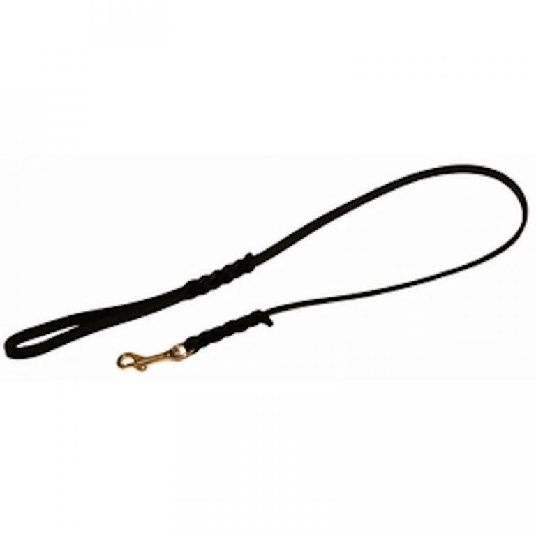 Leather dog leash - Dog leash in leather with or without handle