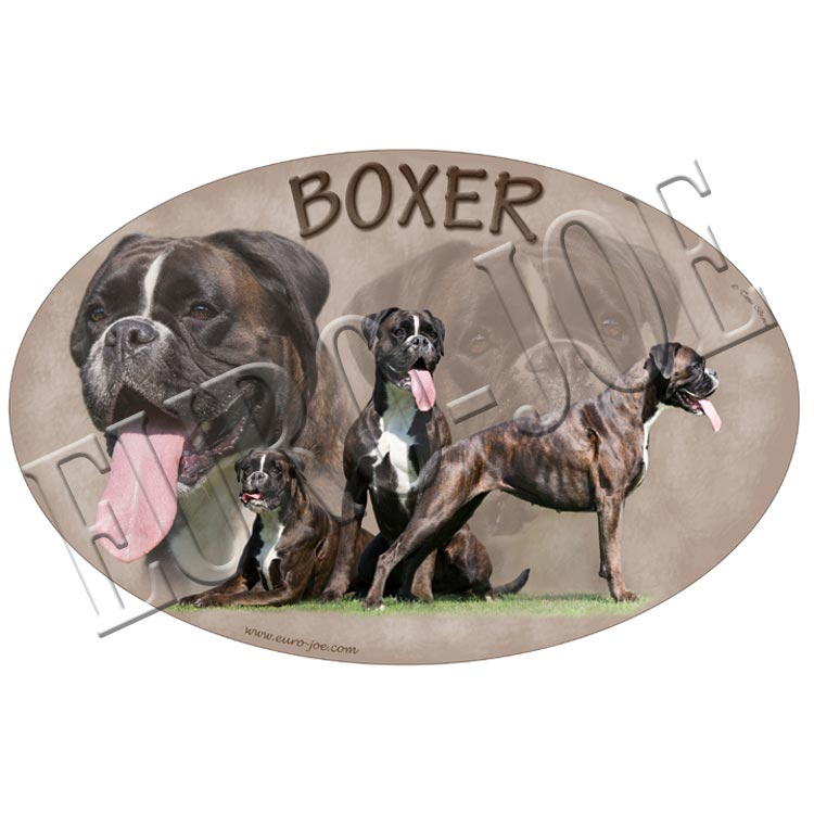 Boxer stickers uit onze collectie of sticker met uw eigen ontwerp