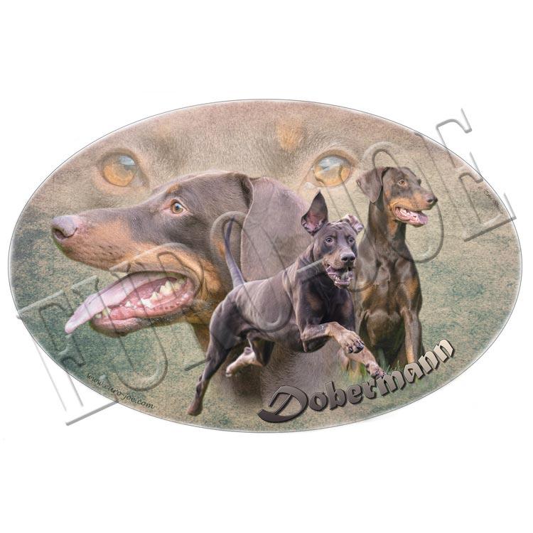 Dobermann stickers uit onze collectie of sticker met uw eigen ontwerp