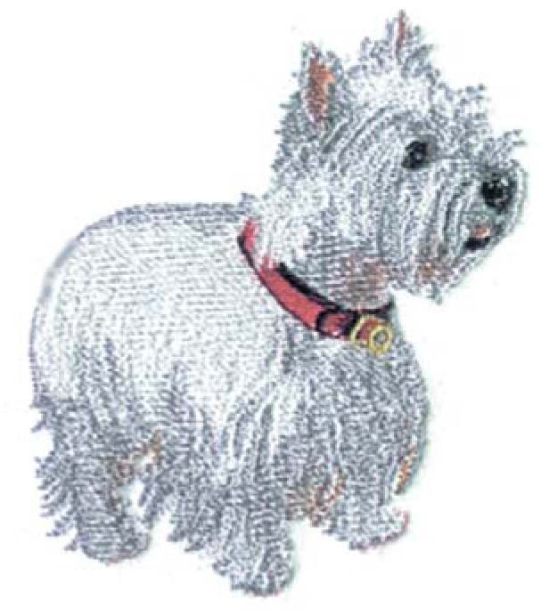 Westie 001 Embroidery