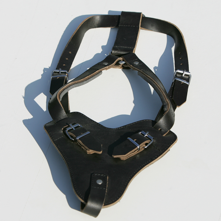 Leather dog harness ensures less pulling and more control