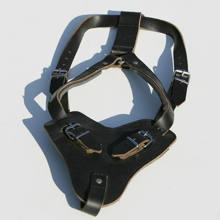 Lederen hondenharnas - leren hondentuig - K9 tuig
