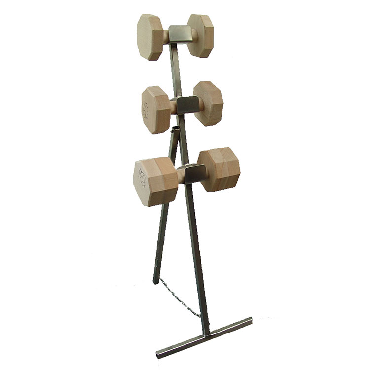Wooden dumbbells accessories