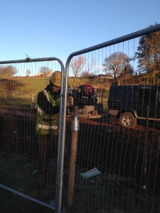 post driver_temporary fencing