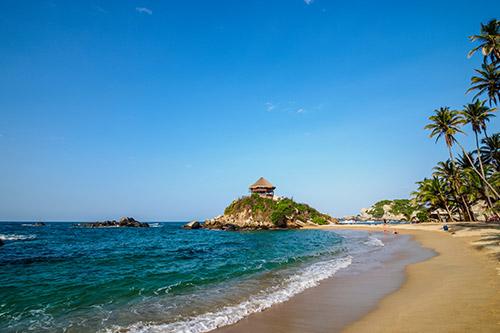 De kust van Colombia
